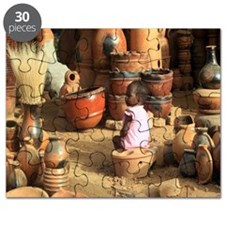 African Child With Pottery 0131-1 Puzzle