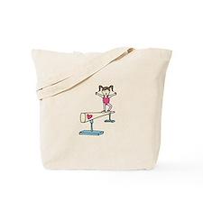 Girl Gymnast Tote Bag