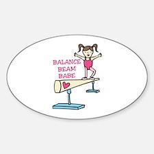 Balance Beam Babe Decal