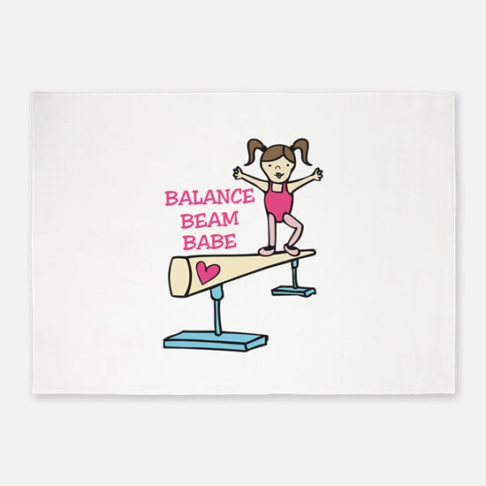 Balance Beam Babe 5'x7'Area Rug