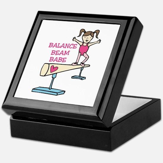 Balance Beam Babe Keepsake Box