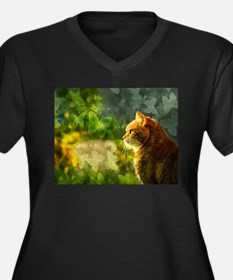 Cat in the Sun Plus Size T-Shirt