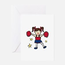 Cheerleader Girl Greeting Cards