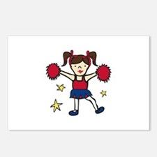 Cheerleader Girl Postcards (Package of 8)