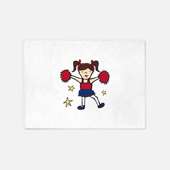Cheerleader Girl 5'x7'Area Rug