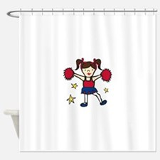 Cheerleader Girl Shower Curtain
