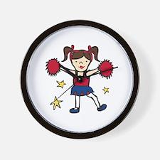 Cheerleader Girl Wall Clock