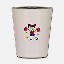 Cheerleader Girl Shot Glass