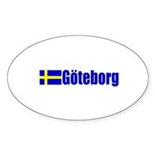 Goteborg, Sweden Oval Decal
