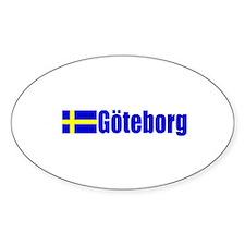 Goteborg, Sweden Oval Stickers
