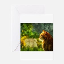 Cat in the Sun Greeting Cards