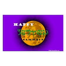 Happy Samhain Rectangle Decal