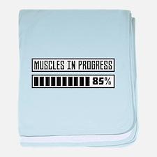Muscles in progess workout C1k6x baby blanket