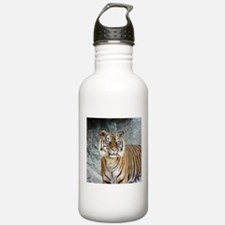 Cute Black and white tiger Water Bottle