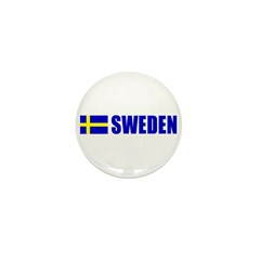 Sweden Flag Mini Button (10 pack)