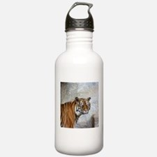 Unique Black and white tiger Water Bottle