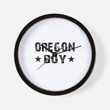 Oregon Boy Wall Clock