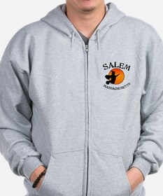 Salem Massachusetts Witch Zip Hoodie