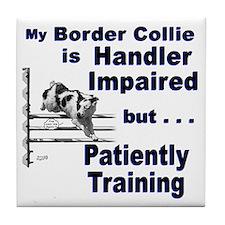 Border Collie Agility Tile Coaster
