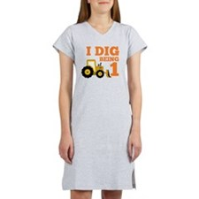 Cute Construction birthday Women's Nightshirt