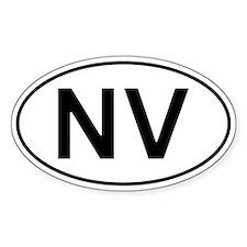 Nv - Nevada Oval Car Decal