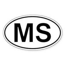 Ms - Mississippi Oval Car Decal