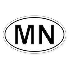 Mn - Minnesota Oval Car Decal