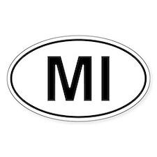 Mi - Michigan Oval Car Decal