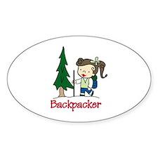 Backpacker Girl Decal