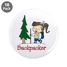 "Backpacker Girl 3.5"" Button (10 pack)"