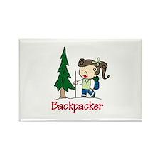 Backpacker Girl Magnets