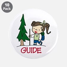 "Guide Girl 3.5"" Button (10 pack)"