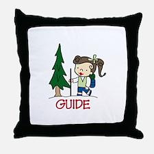 Guide Girl Throw Pillow
