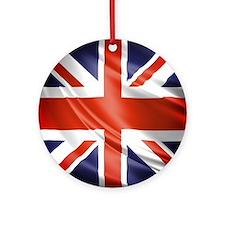 Artistic Union Jack Ornament (Round)