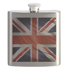 Artistic Union Jack Flask