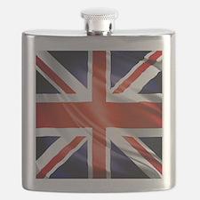 Artistic Union Jack Flask