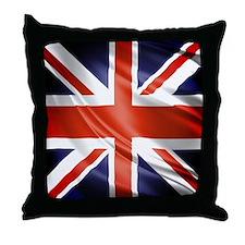 Artistic Union Jack Throw Pillow