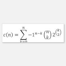 Poly Formula Correct (Black) Bumper Bumper Bumper Sticker
