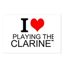 I Love Playing The Clarinet Postcards (Package of