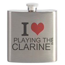 I Love Playing The Clarinet Flask