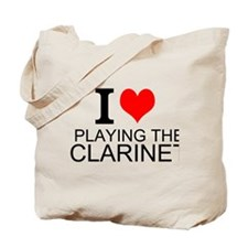 I Love Playing The Clarinet Tote Bag