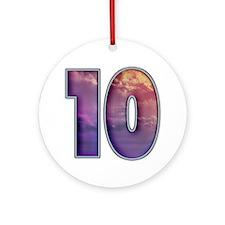 10 Round Ornament