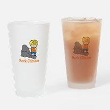 Rock Climber Drinking Glass