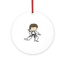 Karate Boy Ornament (Round)