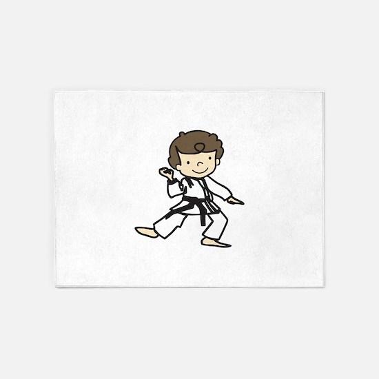 Karate Boy 5'x7'Area Rug