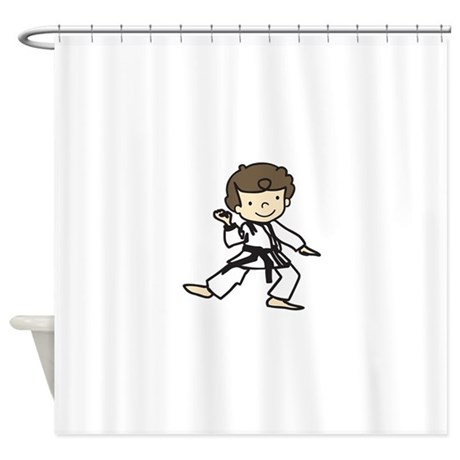 karate boy shower curtain by concord21