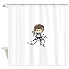 Karate Boy Shower Curtain