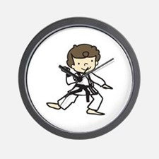 Karate Boy Wall Clock