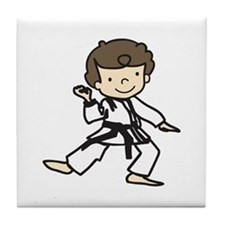 Karate Boy Tile Coaster