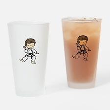 Karate Boy Drinking Glass